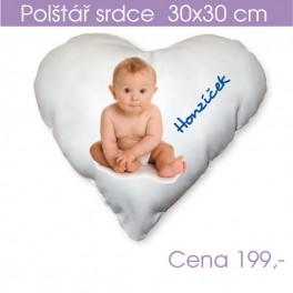 Polštář srdce 30x30 cm