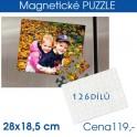 Puzzle magnetické A4 126 dílů