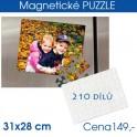 Puzzle magnetické 31x28cm 210 dílů