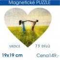 Puzzle srdce 19x19cm 75 dílů