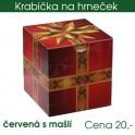 Krabička červená s mašlí
